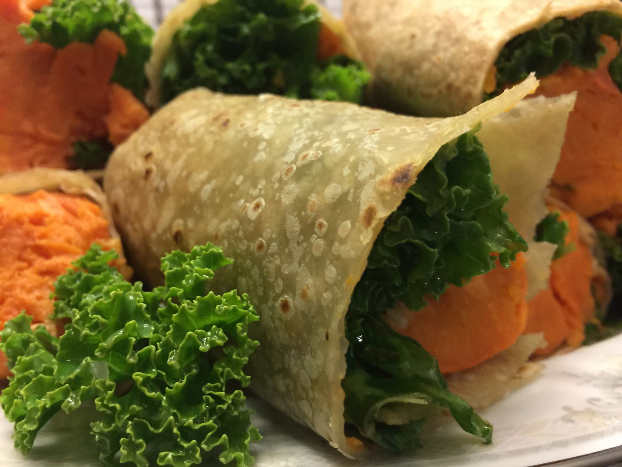 Sweet Potato & Kale Wraps Recipe — Dishmaps